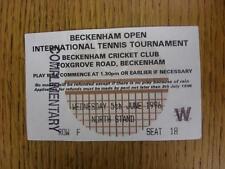 05/06/1996 Tennis ticket: Beckenham ouvert tournoi international [à Beckenham