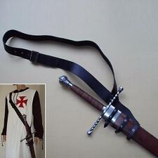 Black Leather Adjustable Baldric. Perfect For Re-enactment, Stage & LARP  #SALE#