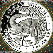 2005 SOMALIA  African Wildlife ELEPHANT 1 OZ Silver Coin VERY HARD YEAR KEY DATE