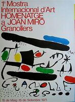 Joan Miro Affiche Originale Lithographie 1971 Abstrait