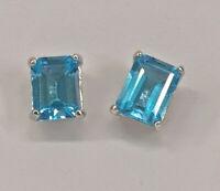 9927797 925er Silber Blautopas-Ohrringe Ohrstecker
