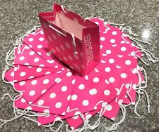 10 Victoria's Secret Pink Dotted Shopping Gift Paper Bags, Small, New