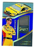 2017 Select Racing SWATCHES RACE USED BLUE PRIZM RELIC LC LANDON CASSILL 102/199
