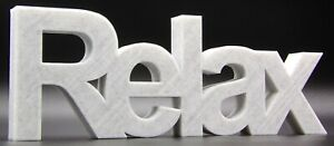 """""""Relax"""" Word Home / Office / Shop Ornament - Arial Font"""