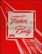 1971 Pontiac Body Repair Shop Manual 71 GTO Lemans Tempest Trans Am Firebird