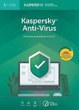 KASPERSKY ANTIVIRUS 2020 1ANNO -1PC KEY NUOVA ATTIVAZIONE/RINNOVO