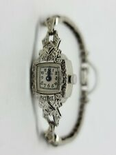 "14K White Gold Vintage MAYFAIR Diamond Wrist Watch 6.5"" MSRP $3,200"