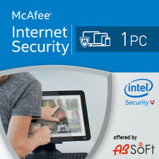 McAfee Internet Security  2020 1 PC 1 Year  1 user 2019 UK
