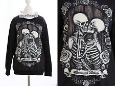 Ty-y096 gothique punk squelette Immortal Lovers Sweatshirt Pull Japon Harajuku