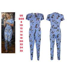 Ladies Jumpsuit Women Celeb Style Sam Faiers Floral Play suit Size 8 10 12 14