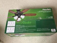 """Hunter Hayden 52"""" New Bronze Ceiling Fan w/ Light 52048  NEW"""