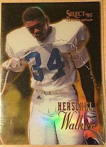 "1995 Pinnacle SELECT Certified Herschel Walker ""Mirror Gold"" Issue #100  MINT"