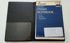 "SKILCRAFT Vinyl Steno Pad Holder, Vinyl/Foam, 6"" x 9"", 80 Page Notebook, Black"