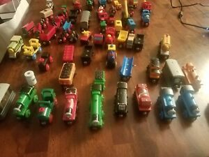 LOT of 62  Assorted Thomas & Friends Wooden  BRIO Leaning Curve Wooden Trains