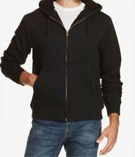 Men's Thick Fleece Fur Lined Hoodie Zip Up Coat Jacket Sweatshirt Top Outwear UK