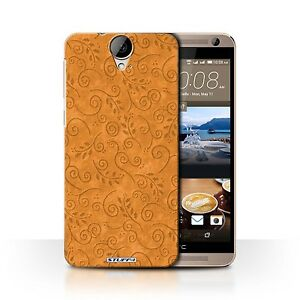 STUFF4 Back Case/Cover/Skin for HTC One E9/E9+/Plus/Swirl Leaf Pattern