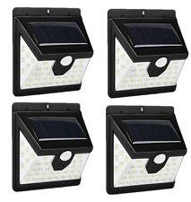 4pcs Lampada luce faretto faro esterno energia solare 40 LED sensore movimento