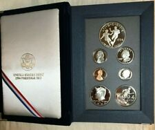 1994-S Us Mint Prestige Proof Set 7 Coin w/ World Cup Soccer Silver Dollar & Coa