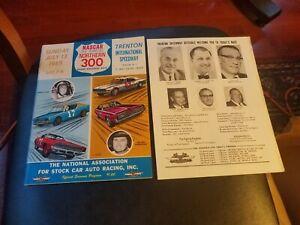 Signed 1969 Nascar Northern 300 Race Program Trenton Speedway Petty Yarborough
