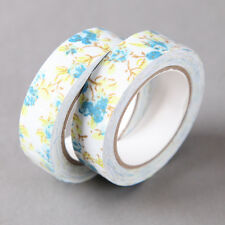 Blue & Yellow Flowers Cloth Fabric Craft Decorative Washi Tape
