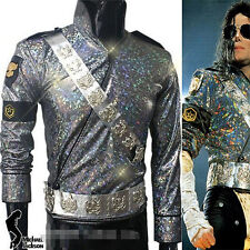 Michael Jackson Bucharest Jam Costume jacket+aiguillette+belt+armbrace+glasses