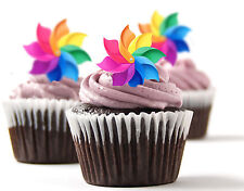 ✿ 24 Edible Rice Paper Cup Cake Toppings, Cake decs - Windmill ✿