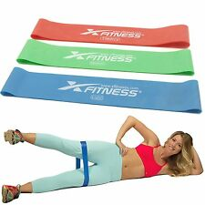 xFitness Resistance Loop Bands - Set of 3 - Great For CrossFit, Yoga, Pilates