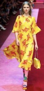 Dolce Gabbana Fish Print Shift Dress RRP £2850 New