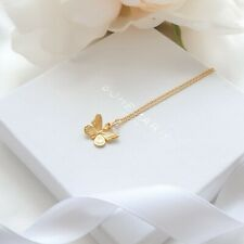 Gold Plated Butterfly Necklace, Dainty Layering Necklaces, Necklaces For Women
