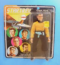 """1974 MEGO STAR TREK 8"""" CAPTAIN KIRK FIGURE w PHASER & COMMUNICATOR CARDED!"""