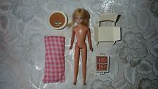 Vintage 1967 Malibu Skipper Barbie Doll Made In Japan by Mattel and Furniture