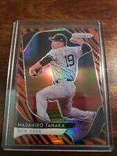 2020 Panini Prizm Baseball Masahiro Tanaka Tiger Stripes Ssp