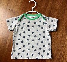 Baby Boys Size 6-12 Months Baby Boden T-Shirt grey star navy ringer jersey knit