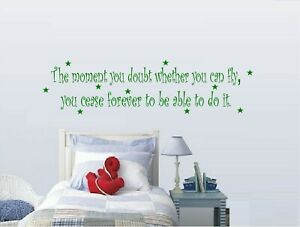 """The Moment you Doubt ...Vinyl Decal 7"""" x 20"""""""
