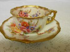 Very Rare Vintage Hammersley & Co Dresdon Sprays Cup & Saucer Regd No. 150153