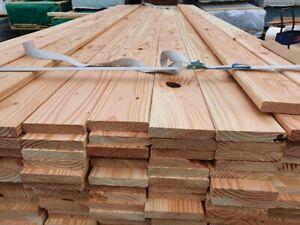 30 qm Douglasie 2.Wahl Holzbretter 18 x 100 mm Terrassendielen Lärche Holz 2 m