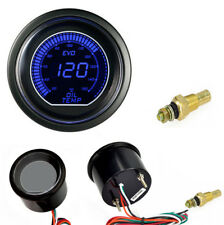 "2"" 52mm Oil Temp Temperature Gauge  Car Interior Meter Blue LED Digital Display"