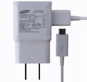 Samsung (EP-TA20JWE) 5V 2A  Fast Charger & Cable for Micro USB Devices - White