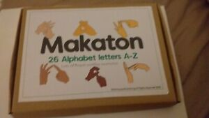26 Extra Large XL Makaton Flashcards  free A4 Poster + Handspelling examples