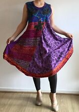 Big Sizes Embroidered Cotton Dress Ethnic Boho Ethical Hippie Fair Trade Nepal