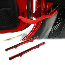 2x Door Limiting Check Straps with Zipper for Jeep Wrangler Jk Jl 2007+ & Jt2020 (Fits: Jeep)