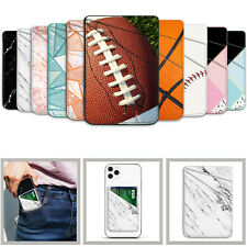 Universal 3M Adhesive Sticker Back Cover Card Holder Case Pouch For Cell Phone