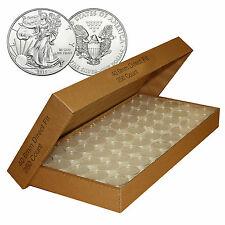 (10) GENUINE AIRTITE COIN CAPSULE HOLDERS FOR AMERICAN SILVER EAGLE DOLLAR HOT2