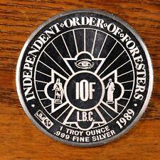 1989 JOHNSON MATTHEY 35TH SUPREME COURT SESSION 1oz .999 Silver Rare Proof Coin