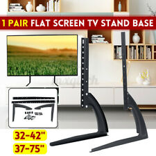 """Universal Table Top TV Stand Bracket Mount Base For 32""""-75"""" Height Adjustable"""