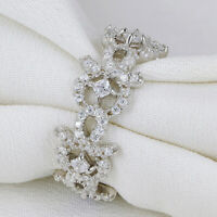 Newshe Wedding Ring Eternity Band For Women 925 Sterling Silver AAA Cz Size 5-10