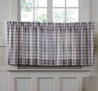 "ANNIE BUFFALO GREY CHECK 24"" Tier Set Cotton Primitive Farmhouse VHC Brands"