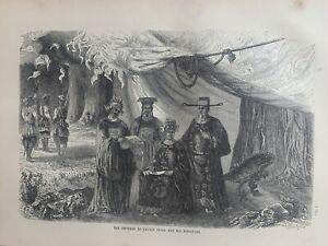 1870 Emperor Of Cochin China, Vietnam Original Antique Print