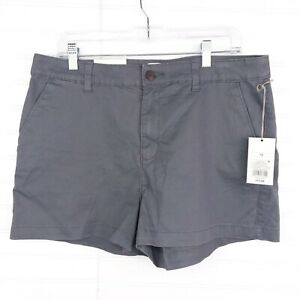 """A New Day Women's Plus Size 14 3"""" Gray Cotton Casual Everyday Summer Chino Short"""
