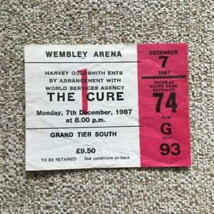 The Cure  ticket Wembley Arena  07/12/87 Kissing tour #G93